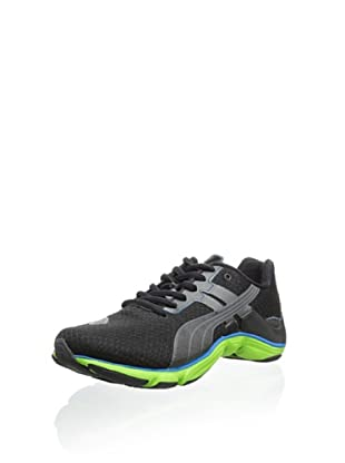 PUMA Men's Mobium Runner Elite Sneaker (Black/Turbulence/Jasmine Green)