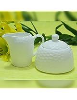 Devnow Ceramic Sugar Basin with creamer combo pack