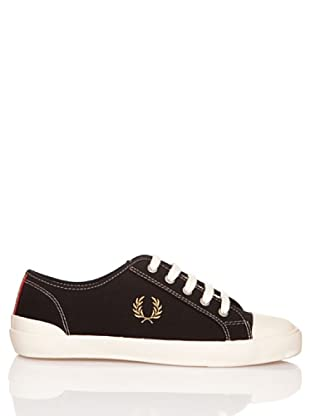 Fred Perry Deportiva Beresford Canvas (Negro / Oro)