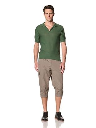 Camo Men's Pietro Micca Knit Polo (Green)