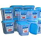 Chetan 14Pcs Plastic Kitchen Storage Container Set - Blue