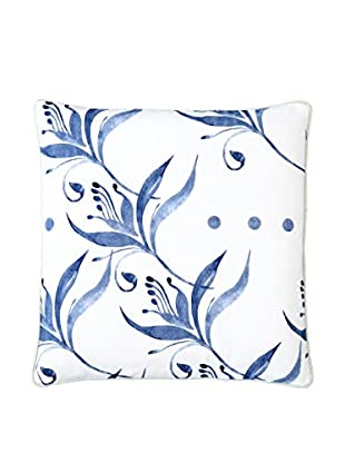 Lene Bjerre Abrielle Blue & White Throw Print Throw Pillow