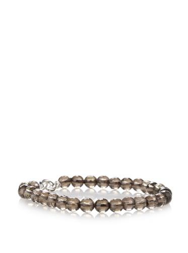 Catherine Angiel Beaded Bracelet, Silver/Smokey Topaz