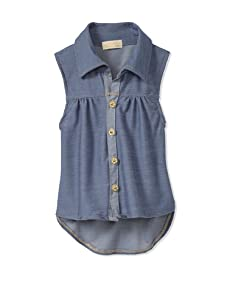 Lunchbox Girl's Denim Shirt (Vintage Wash)
