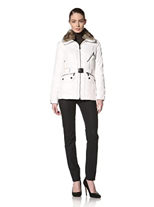 Andrew Marc Women's Flair Belted Down Jacket (White)