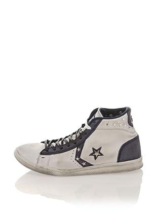 Converse Zapatillas Pro Lea Lp Mid Canvas Ltd Star (Gris / Azul Marino)