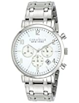 Caravelle by Bulova Dress Analog White Dial Men's Watch - 43B138