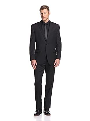 Calvin Klein Men's Malik Solid Suit (Black)