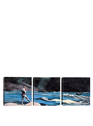 iCanvasArt Winslow Homer: Ouananiche, Lake St John Panoramic Giclée Triptych