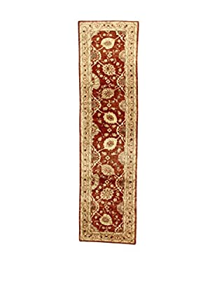 L'Eden del Tappeto Teppich Agra rot/beige 309t x t78 cm