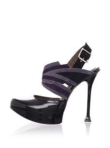 MARNI Women's Platform Slingback Pump (Onyx)