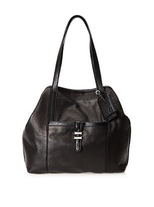 Charlotte Ronson Women's Classic De-Constructed Tote Bag (Black)