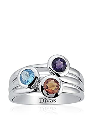 Divas Diamond Anillo Coloured Precious Stones Engagement
