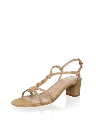 Lola Cruz Women's Mid Heel Sandal (Cobra/Nude)