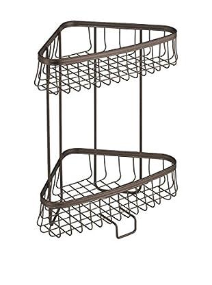 InterDesign York Lyra 2-Tier Shower Shelf, Bronze