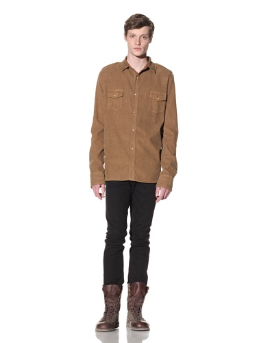 Oliver Rayn Men's Nico Corduroy Shirt (Saddle)