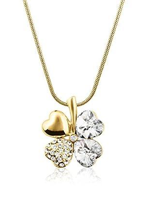 Swarovski Elements by Philippa Gold Collar Cloverleaf Metal Dorado