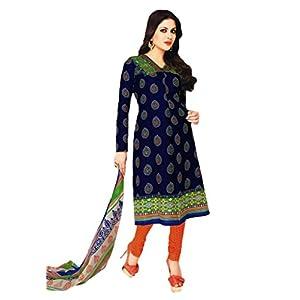 Salwar Studio MCM-4576 Unstitched Churidar Kameez - Blue