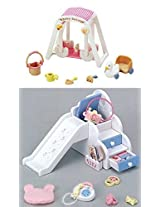 Sylvanian Families - Baby Slide & Baby Swing Set Sold Together