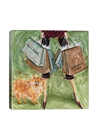 Bella Pilar Dog Day: Pomeranian Gallery Wrapped Canvas Print