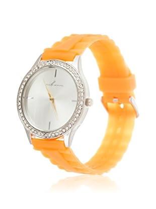 VIANOVA Women's NWX174451OR-Z Orange/Silver-Tone Rubber Watch