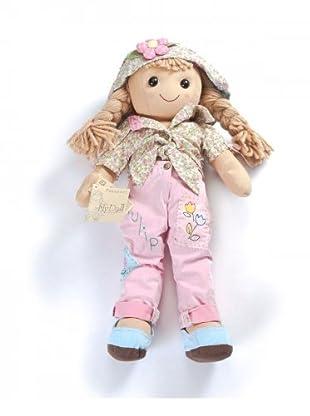 My Doll Stoffpuppe 52 cm (honig/grün/rosa/hellblau)