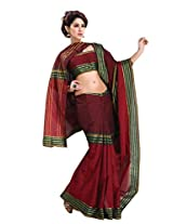 Red Color Cotton Blend Saree by Roop Kashish ( vinata )