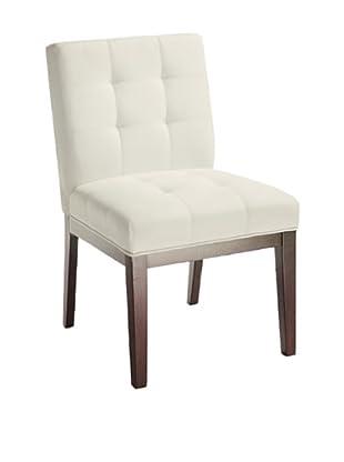 Sunpan Set of 2 White Felicia Dining Chairs