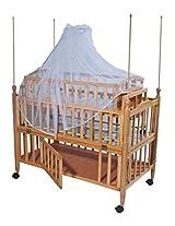 Mee Mee MM-629B Baby Wooden Cot (Brown)