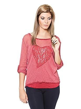 Laura Moretti Camisa Mujer (Rojo)