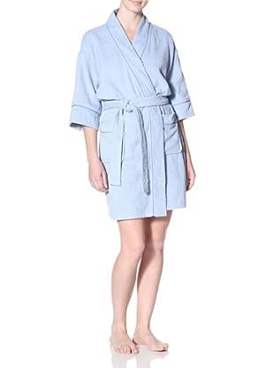 Aegean Apparel Women's Terry Kimono Robe (Blue/Blue)