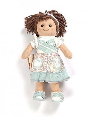 My Doll Stoffpuppe Blumenmuster (braun/meeresgrün/weiß)