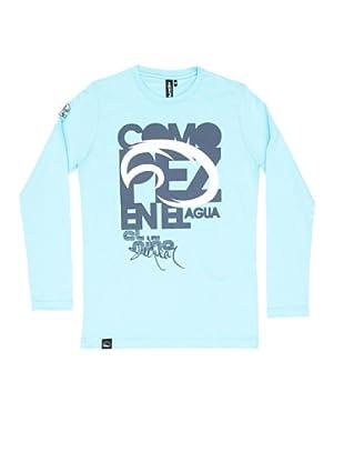 El Niño Camiseta Manga Larga Pez (turquesa)