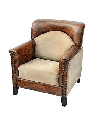 Colton Library Chair, Brown/Tan
