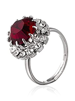 SWAROVSKI ELEMENTS Anillo Saton Rojo