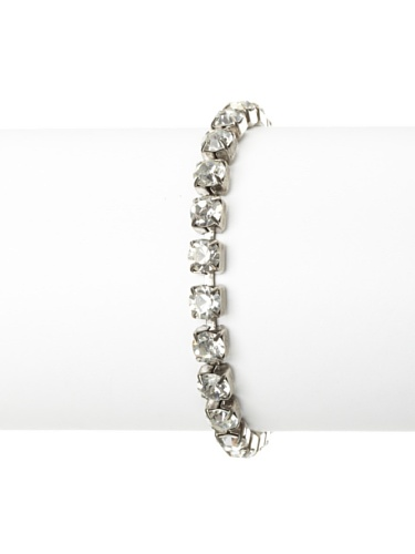 Lulu Frost 1920's Art Deco Classic Round Tennis Bracelet, Silver