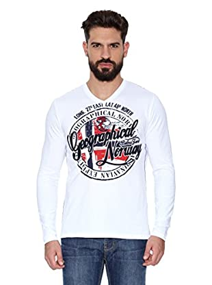 Geographical Norway Camiseta Manga Larga ML Jaroda Ls Men (Blanco)
