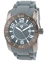 Swiss Legend Men's 20068-GM-014 Commander Dark Grey Dial Dark Grey Silicone Watch