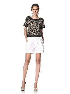 Kenneth Cole Women's Short with Self Belt (White)