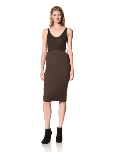 RICK OWENS Women's Straight Skirt (Bitter)