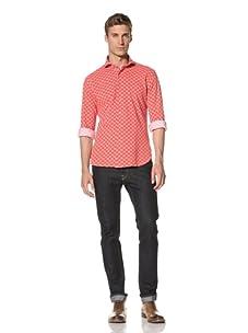 Orian Men's Flower Shirt (Red)