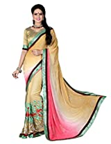 Amayra Fashion Party Wear,Wedding Wear Embellished Embroidered Net And Georgette Sari
