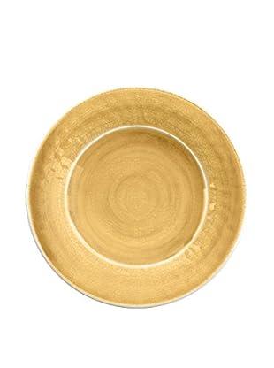 Color Wash Melamine Salad Plate, Solid Gold