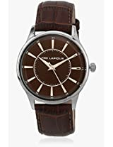 5129104 Brown/Brown Analog Watch Ted Lapidus