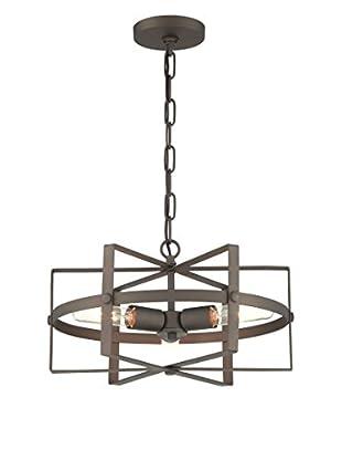 Varaluz Reel 3-Light Chandelier, Rustic Bronze