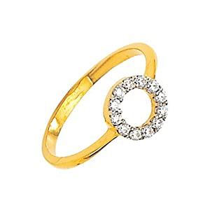 Bling Women Girls Ring BGR 002 White Gold