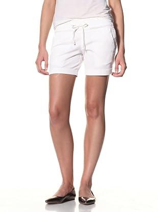SOLD Denim Women's Slouch Twill Shorts (White)