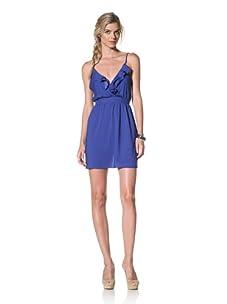 Luna  Women's Olivia Ruffle Dress (Royal)