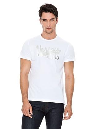 Versace Jeans Camiseta Logo Retro (Blanco)