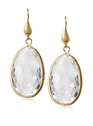 Rivka Friedman 18K Gold Clad Rock Crystal Dangle Earrings